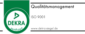 Dekra-Siegel - Qualitätsmanagement nach ISO 9001